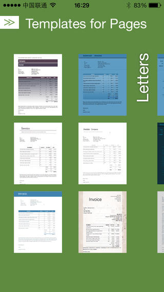 A cool new app of Templates Pro for Pages Documents-screen568x568.jpeg