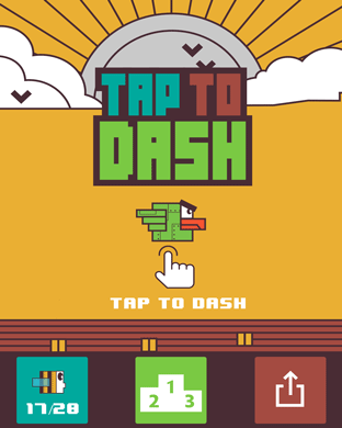 Tap to Dash - Free To Play Hyper Casual Game for Apple Watch-scr1.png