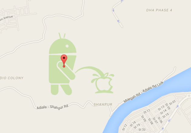 Apple Maps app shows Lloyd the droid urinating on Apple-screen-shot-2015-04-24-12.01.09.png
