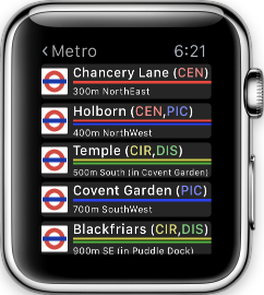 Poison Maps: The Ultimate POI Watch App-watch_results_london_stations_small.png