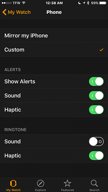 I don't want my phone to ring on my Apple Watch but I do want to receive other notifications, what are my options?-2016-04-16-00.38.07.png