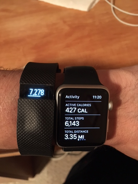 Apple Watch vs Fitbit Charge HR Step Counts off - iPhone