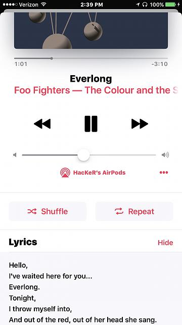 My songs won't advance on Apple Music for ios10. Repeats same song-fullsizeoutput_be2.jpeg