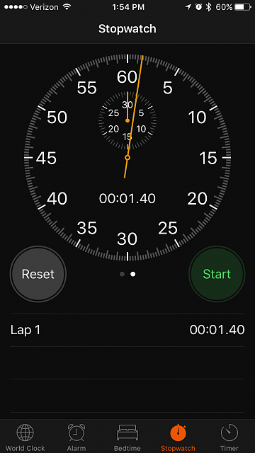 In stop watch mode how can i actually see the stop watch-stopwatch.png