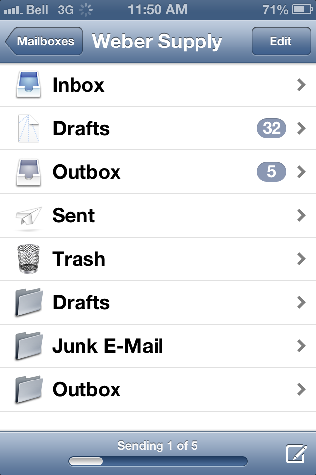 how to send emails in outbox