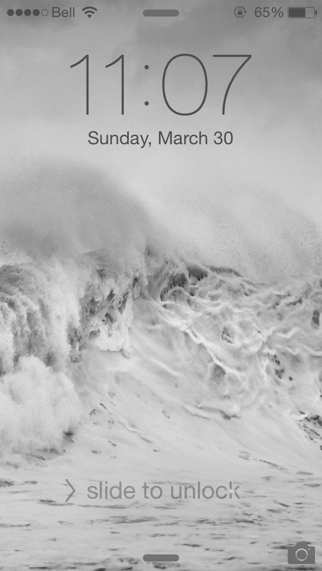 Black Tint Across The Top Of My Lock Screen And Wallpaper Iphone