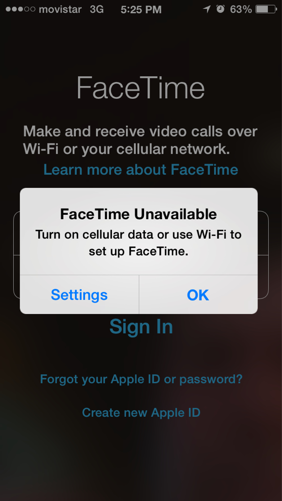 ipad facetime not working on 3g