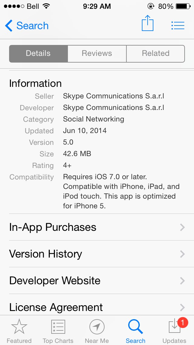 Does anyone know why I can't find skype in the App Store? - iPhone