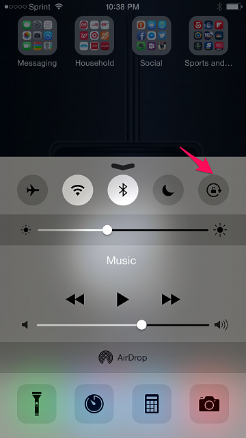 How to turn on auto rotate on iphone 5c 1