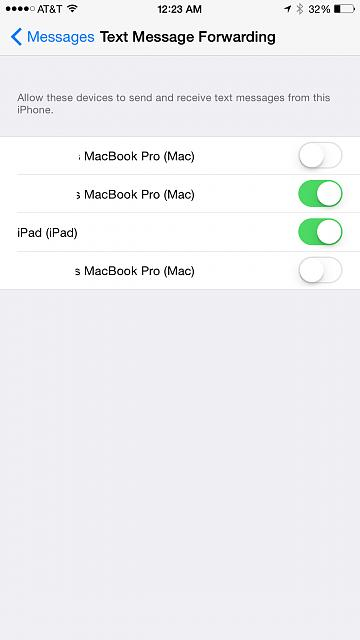 Why is the SMS relay setting on my iPhone showing multiple entries for the same Mac?-2014-11-22-00.23.19.jpg