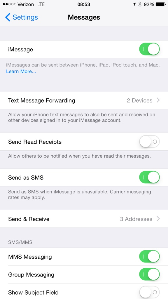 iphone text forwarding why isn t my phone showing the text messaging forwarding 12372