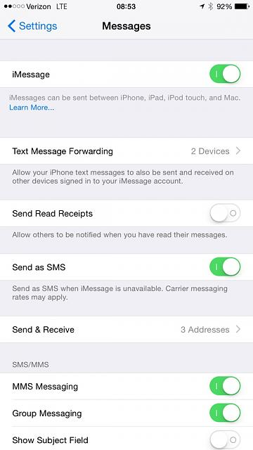 Why isn't my phone showing the text messaging forwarding option on my iPhone 5s?-imageuploadedbytapatalk1416923669.594779.jpg