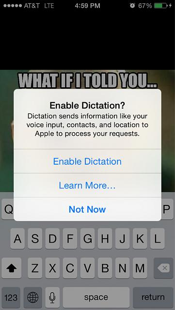 Is this message normal when enabling dictation on an iOS device?-imageuploadedbyimore-forums1418081242.525789.jpg