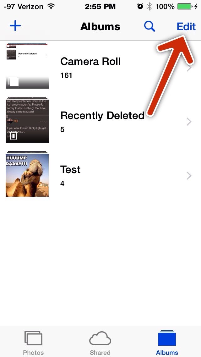how to delete photo albums from iphone how do i delete certain photo albums from my iphone 5s 4997