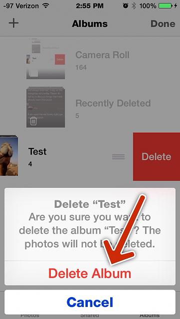 How do i delete photos from my facebook albums