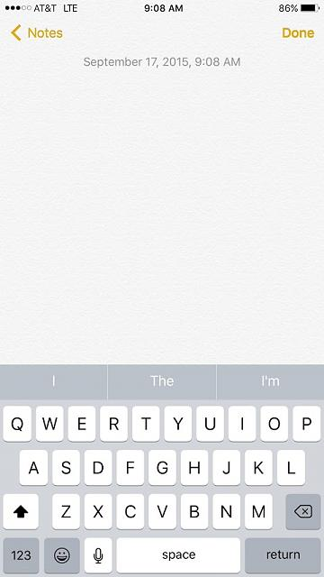 Updated to IOS 9, but my notes app isn't showing the new features?-notes.jpg