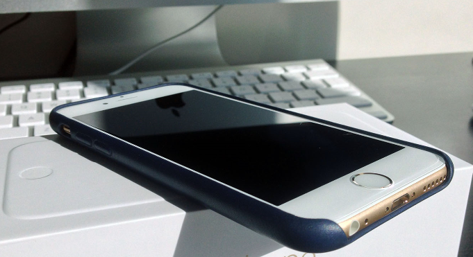 white  silver iphone 6  leather case