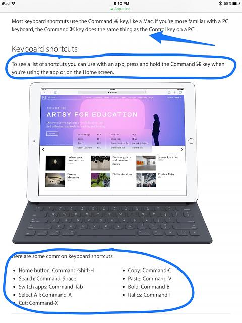What is the shortcut key for bookmarking pages with Apple's smart keyboard?-imageuploadedbyimore-forums1459905125.494218.jpg