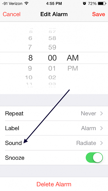 how to change alarm sound on iphone guide how to change the alarm tone in ios 7 iphone 19871