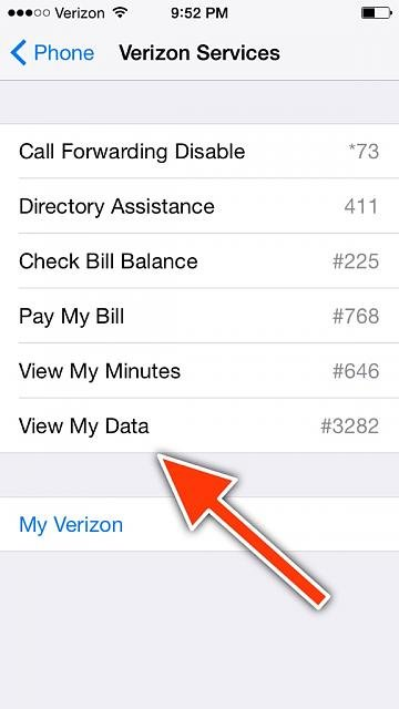 find my data usage on iphone