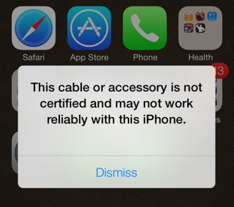 If your iPhone 5 isn't charging anymore, it could be that third party cable you're using-imageuploadedbytapatalk1403250672.271582.jpg