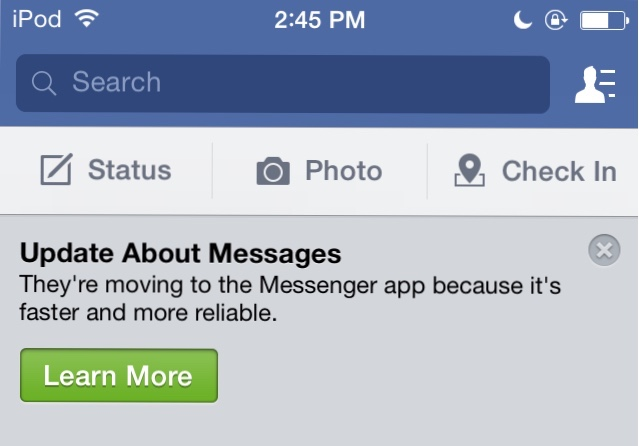 Facebook moving users to dedicated Messenger app to chat-imageuploadedbytapatalk1406746049.483242.jpg