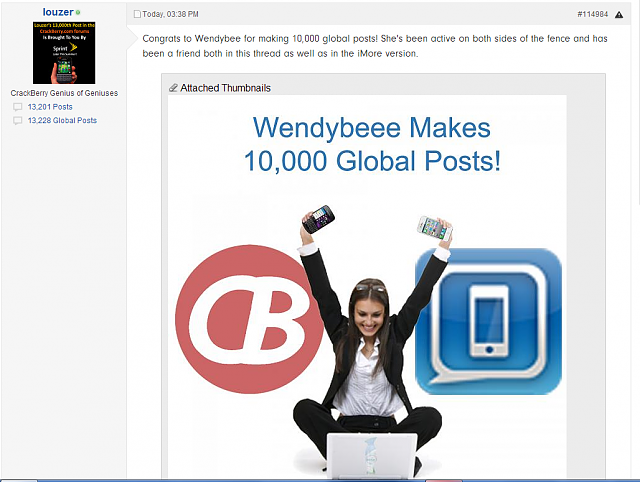 The iMore 20K / 50K Post Challenge - Are you up for it?-wendeybee-10000k-global-posts.png
