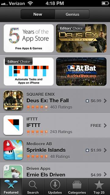 Restored Today  App Store Old Version  - iPhone, iPad, iPod