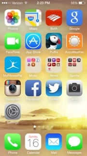 Ios 7 With A Completely White Wallpaper Iphone Ipad