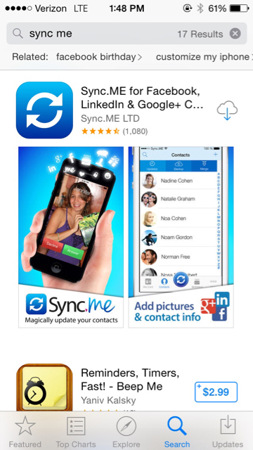 would like to use Facebook pictures as my contacts pictures. - iPhone ...
