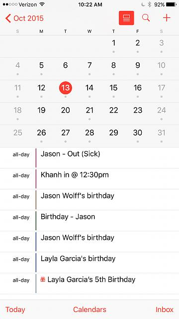 Why can't I see my calendar events when I swipe down to see TODAY?-img_0203.jpg