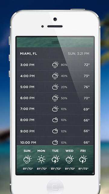 Morning Rain - iPhone/iPod Touch Weather App-morningrain-ios5-3.png.