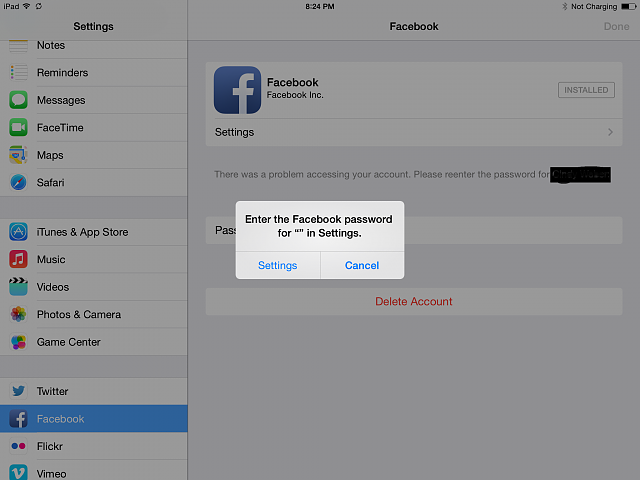 Updated to IOS 7 1 now FB app can't connect to server  - iPhone