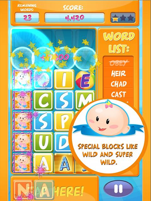 Baby Blocks - Fun Free Word Game  (Feedback)-super_wild_ipad_text.jpg