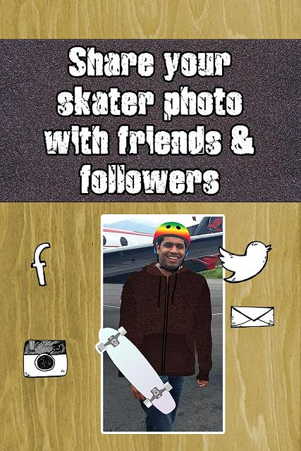 X Treme Skate Skateboarder Picture Editor - Free Download for iPad and iPhone Available now-skate05_share640.jpg