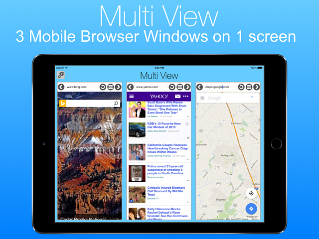Multi View - Multiple Mobile browser windows on 1 screen-screenshot0.png