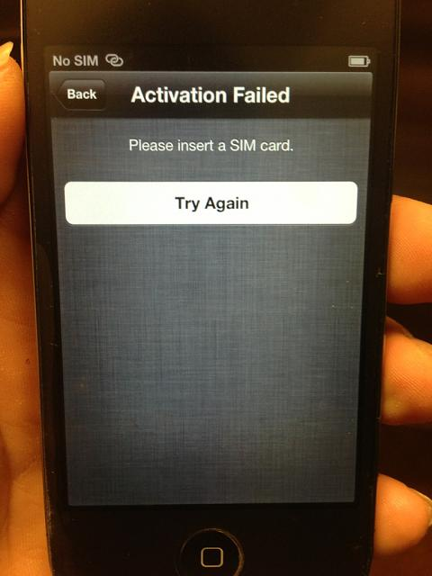iphone without sim card can i activate with no sim card iphone ipod 2447