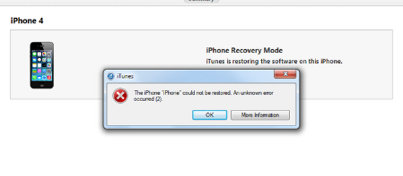 itunes could not connect to this iphone the iphone quot iphone quot could not be restored an unknown 20504