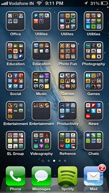 how to show all open apps on iphone 5