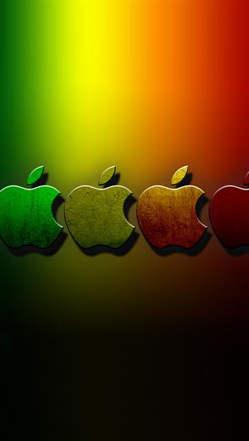 Show us your iPhone 5 Homescreen:-rainbow-apples.jpg