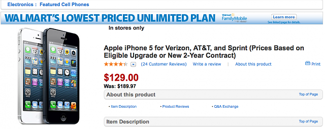 iphone 5 price at t sam s and walmart prices iphone ipod forums at 7566