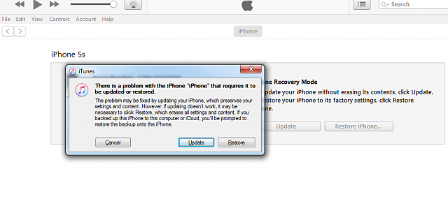 Several problems with iPhones 5S-5situnes.png