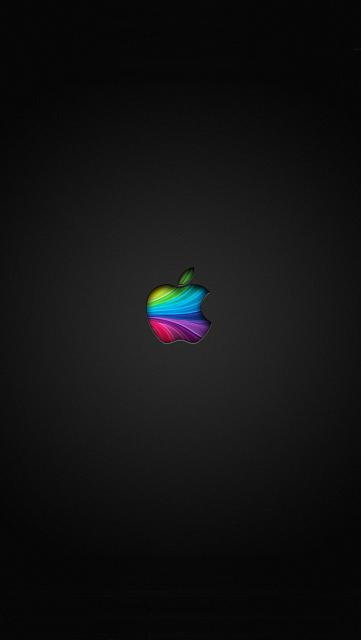 Show us your iPhone 5S LOCK Screen:-rainbow-apple.jpg