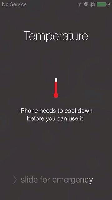 iphone 5s overheating has anyone seen the iphone temperature warning 11223