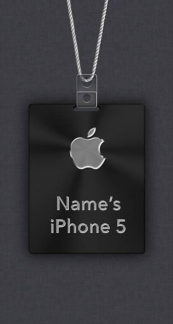 iphone 5 5c 5s apple nametag wallpaper