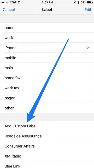 I lost my 'add custom label' on my iPhone 6+, how can I get it back?-imageuploadedbytapatalk1452121007.045222.jpg