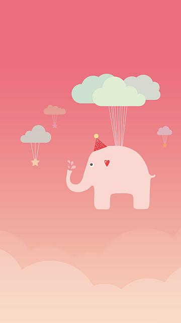 Free iPhone 6 Plus/iPhone 6 Wallpapers Download-cute-elephant-iphone-6-wallpaper-ilikewallpaper_com.jpg