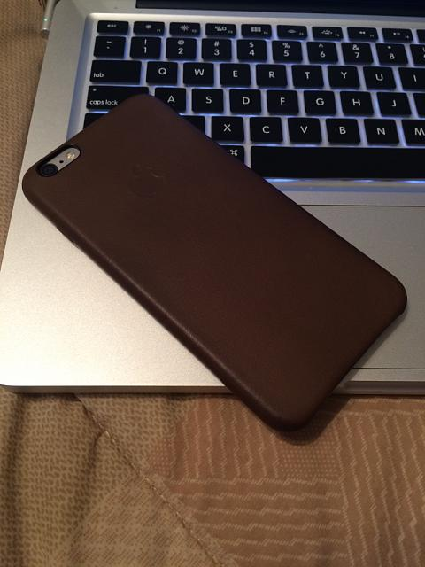 iPhone 6 plus + Apple leather case = Classy as fudge-imageuploadedbytapatalk1411948034.440525.jpg