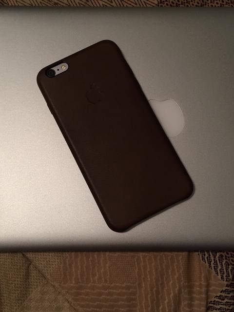 iPhone 6 plus + Apple leather case = Classy as fudge-imageuploadedbytapatalk1411948066.762317.jpg