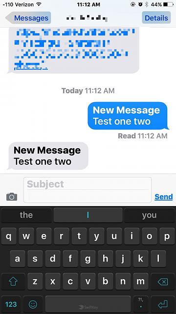 how to change imessage to text message on iphone 6